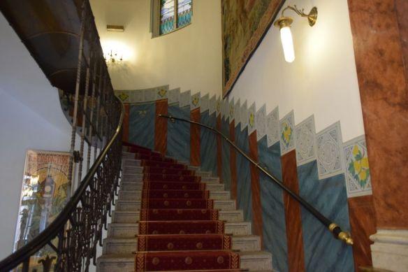 cage escalier hôtel Pariz Prague