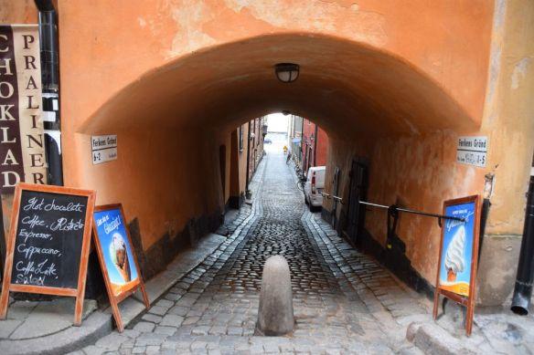 rue Gamla Stan immeubles stockholm suède sweden