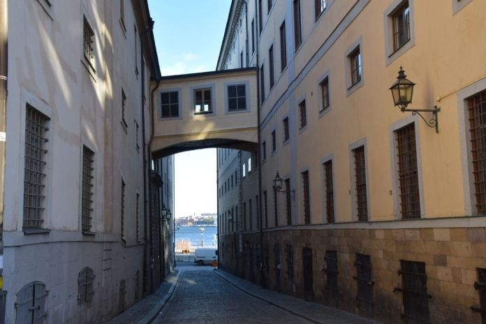 pont en hauteur Gamla Stan Stockholm