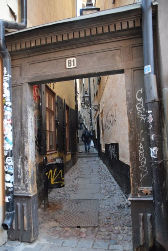 petit passage Gamla Stan stockholm suède sweden