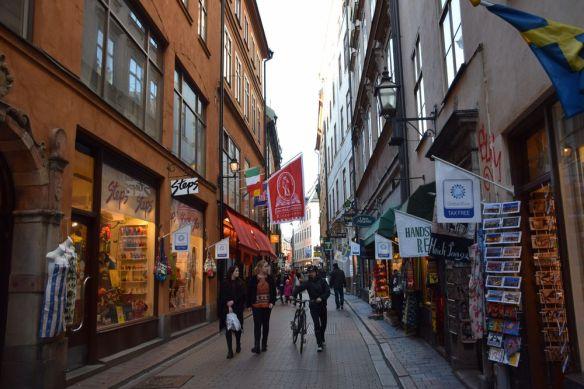 touristes Gamla Stan Stockholm suède sweden
