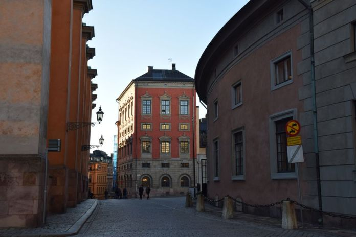 façades colorées Gamla Stan Stockholm suède sweden