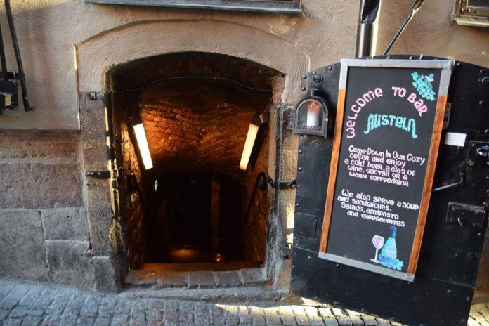 entrée pittoresque bar Gamla Stan Stockholm suède sweden
