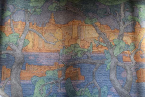 fresque galerie hôtel de ville Stockholm suède sweden