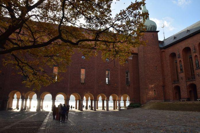 cour intérieure hôtel de ville de Stockholm suède sweden