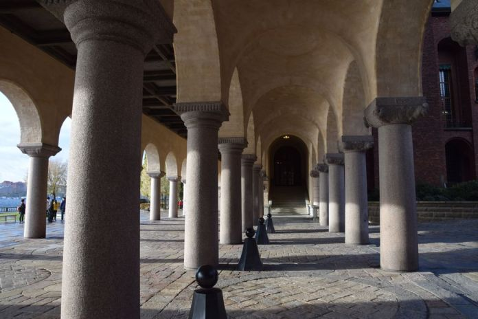 galerie Hôtel de ville de Stockholm suède sweden