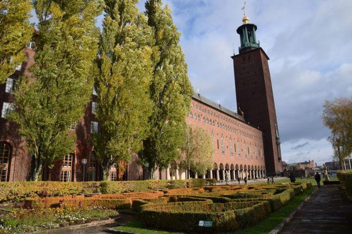 jardin hôtel de ville de Stockholm