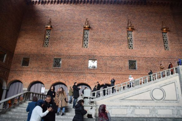 escalier hôtel de ville stockholm suède sweden