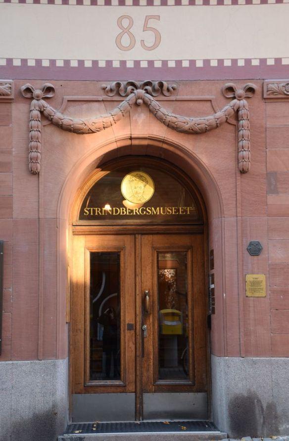 entrée musée Strindberg stockholm suède sweden