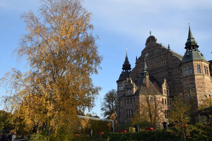 derrière le musée nordique Stockholm suède sweden