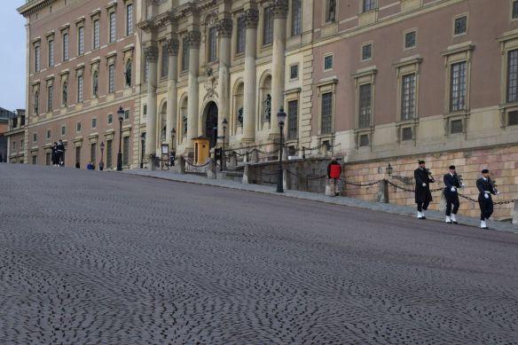relève de la garde palais royal stockholm suède sweden