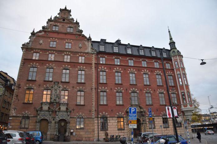 immeubles façades riches gamla stan stockholm suède sweden