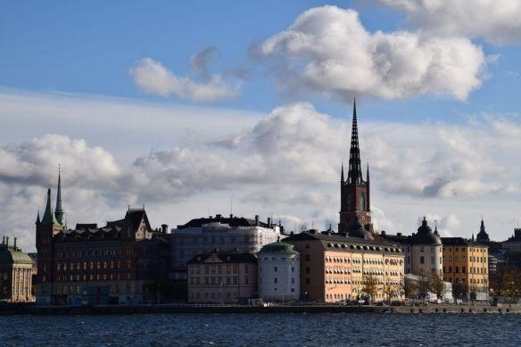 stockholm depuis hôtel de ville suède sweden
