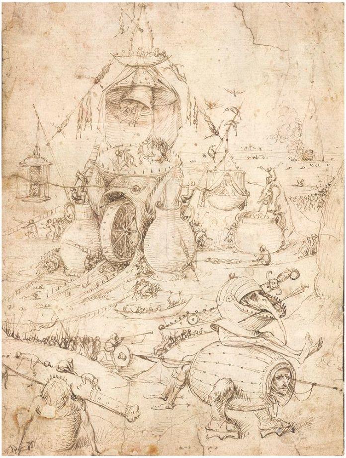 Paysage de l'enfer Jheronimus Bosch