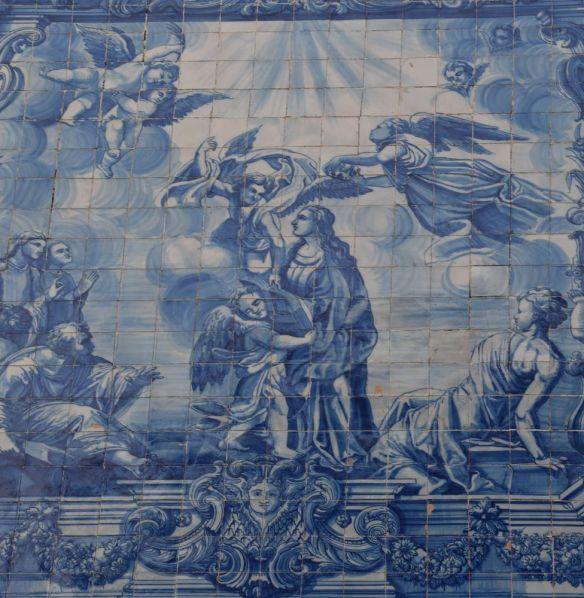 azulejos église santa catarina porto portugal