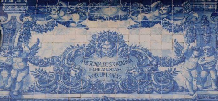 détail église santa catarina porto portugal