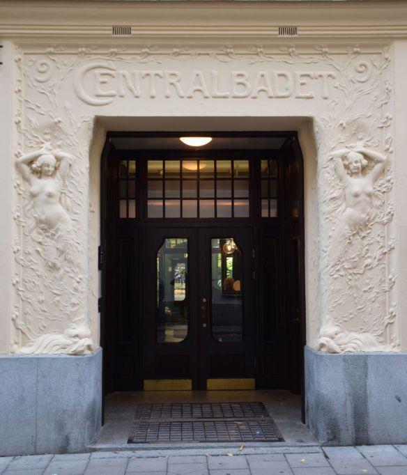 centralbadet porte arrière art nouveau stockholm suède