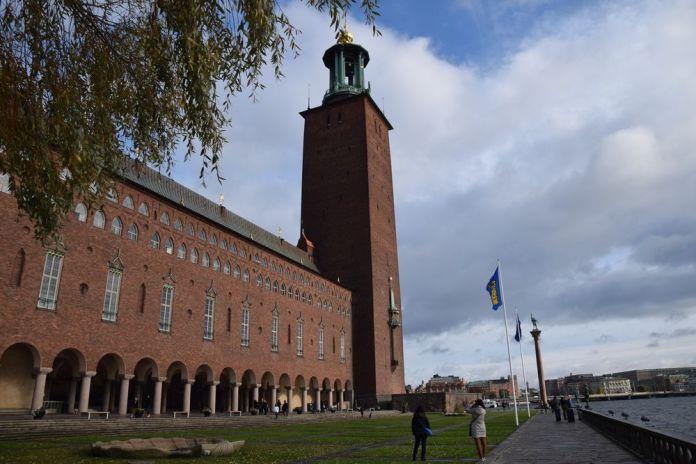 brique hôtel de ville stockholm suède