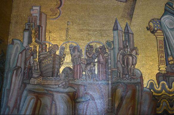 tour eiffel statue de la liberté salle dorée hôtel de ville stockholm suède