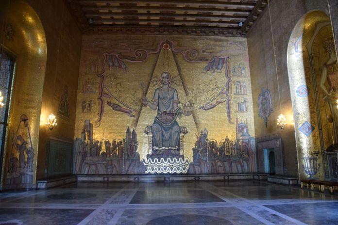 chatoiement des mosaïques salle dorée stockholm suède
