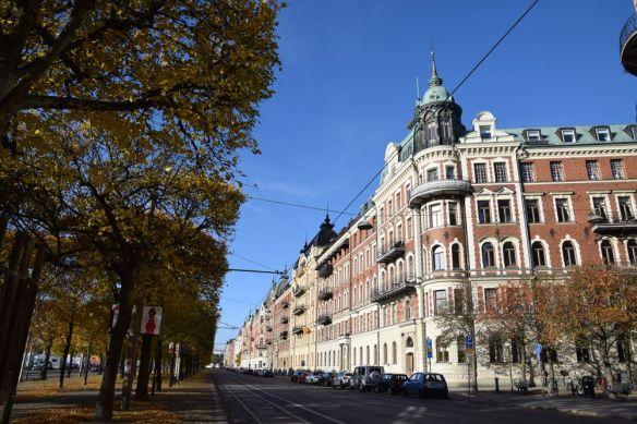 strandvagen à Stockholm suède