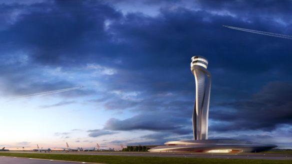 tour contrôle futur aéroport Istanbul Turquie