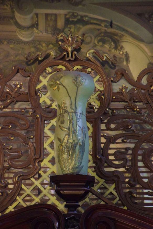 grand vase à décor art nouveau Eliesseïv Moscou moscow russie russia