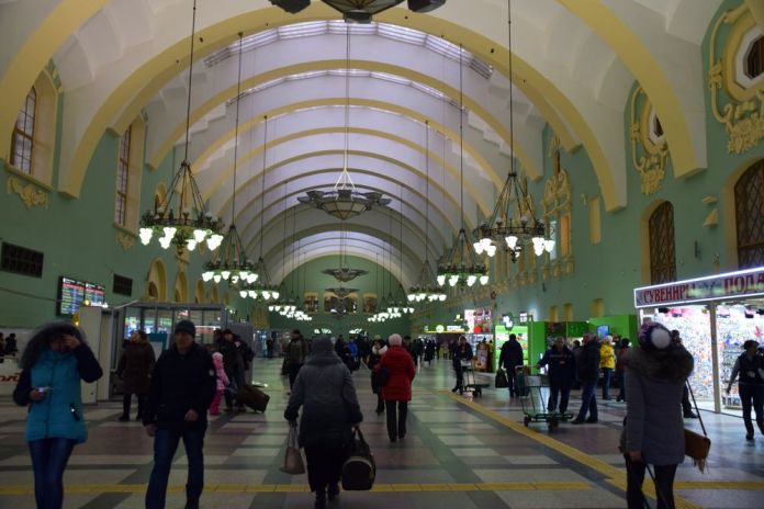 métro komsomolskaïa et gare kazan moscou moscow russie russia