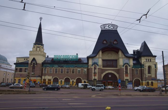 gare yaroslav chekhtel moscou moscow russie russia