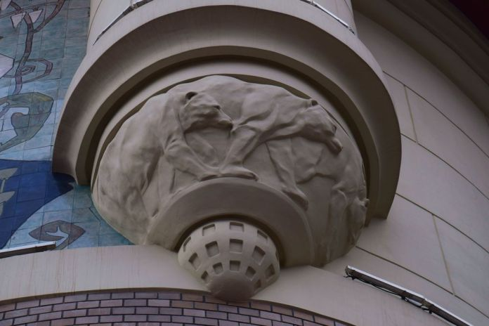 soubassement colonne gare yaroslav moscou moscow russie russia