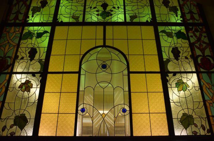 vitraux escalier salle à manger hôtel metropol moscou moscow russie russia