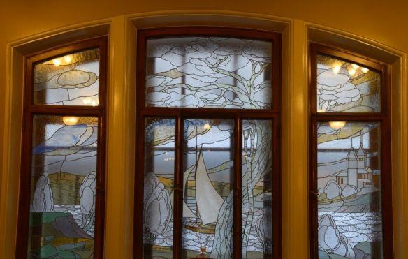 vitraux dégradés hôtel metropol moscou moscow russie russia