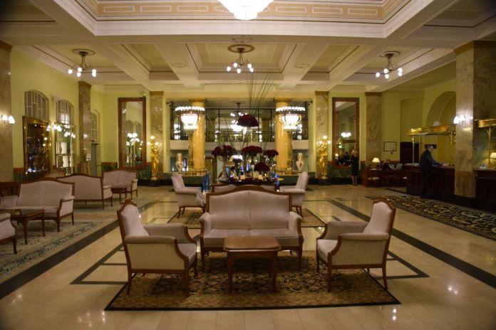 hall d'entrée hôtel metropol moscou moscow russie russia