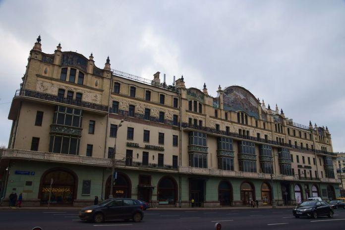 façade arrière de l'hôtel metropol moscou moscow russie russia