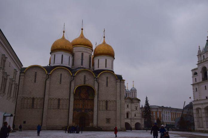 cathédrale de la dormition kremlin moscou moscow russie russia