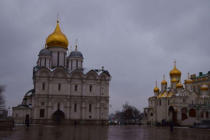 cathédrale de l'archange kremlin moscou moscow russie russia
