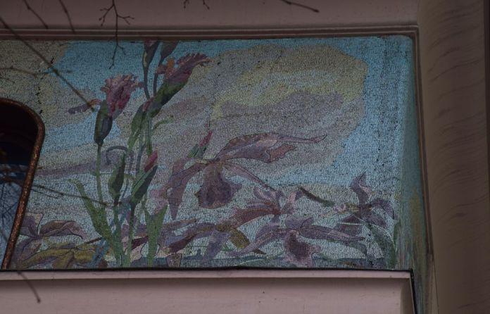 fleurs en mosaïques maison musée Gorki moscou moscow russie russia