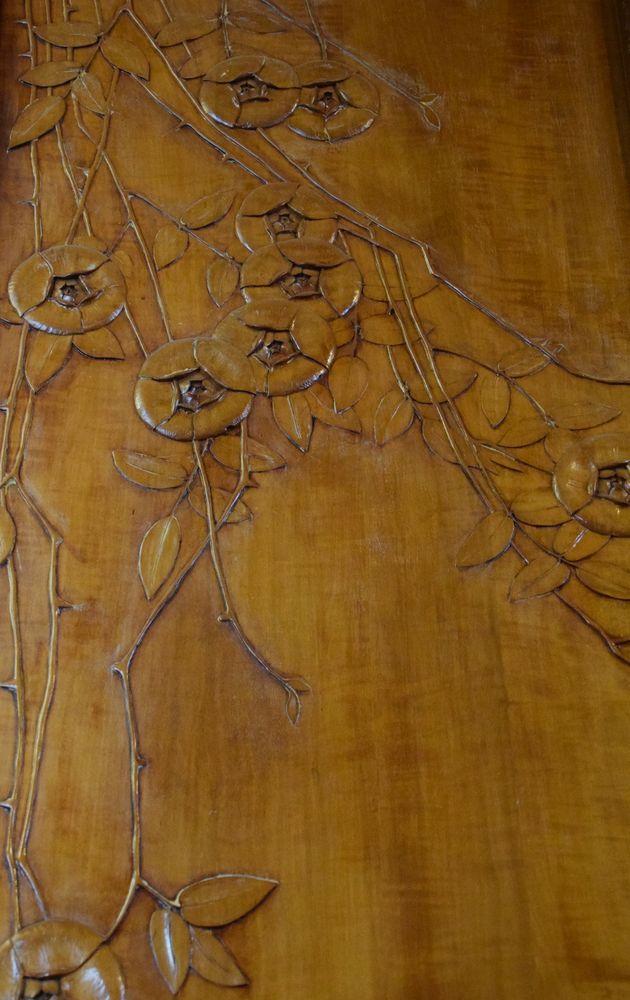 panneau en bois sculpté maison musée gorki moscou moscow russie russia