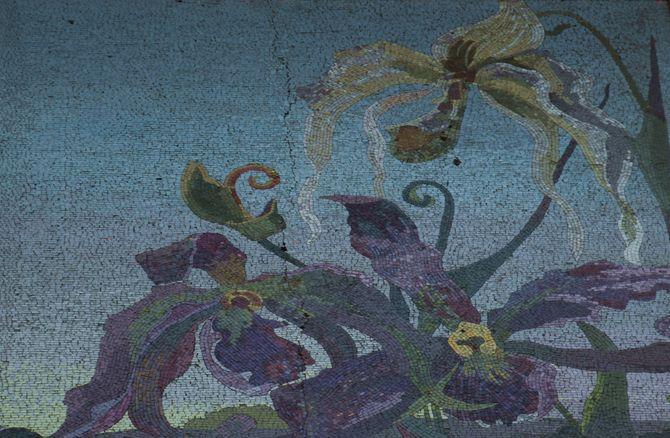 panneau orchidées maison musée gorki moscou moscow russia russie