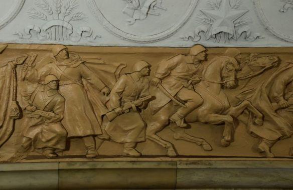 bas-relief métro de moscou moscow russie russia