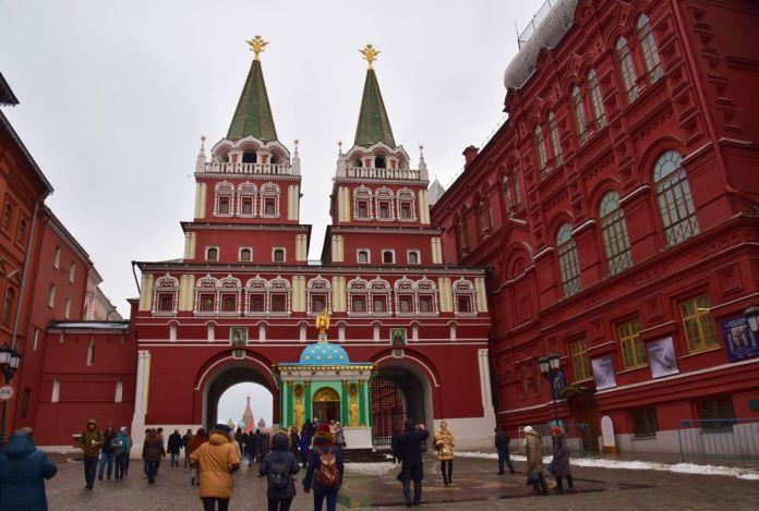 porte de la résurrection moscou moscow russie russia