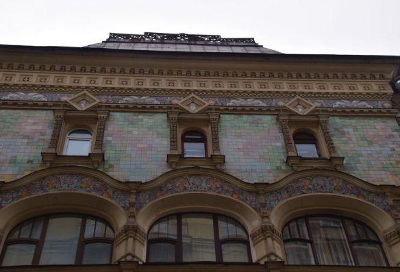 bâtiment céramique Tverskaïa moscou moscow russie russia
