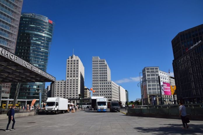 bâtiments effilés potsdamer platz berlin