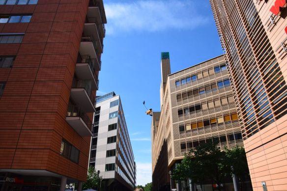 variété d'immeubles Potsdamer platz berlin