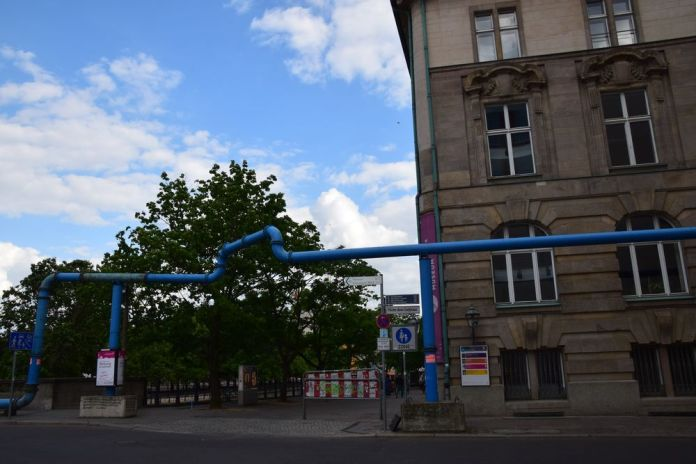 tuyaux bleus Berlin