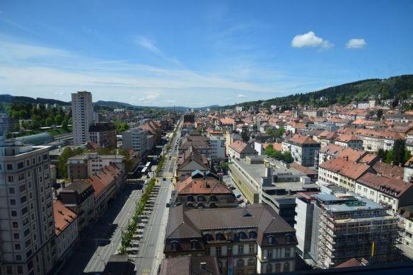 perspective artère centrale la chaux de fonds suisse switzerland