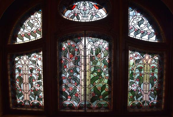 vitrail style sapin immeuble spillmann la chaux de fonds suisse switzerland