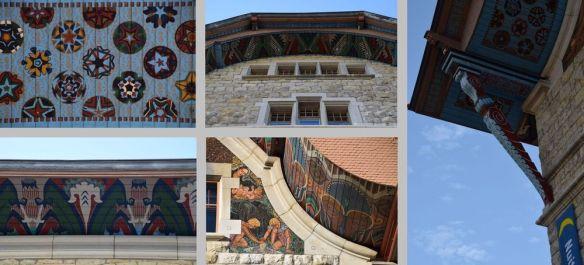 détails architecture et décors hôtel de ville locle suisse switzerland