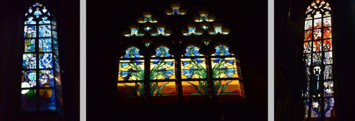 vitraux église des Franciscains cracovie