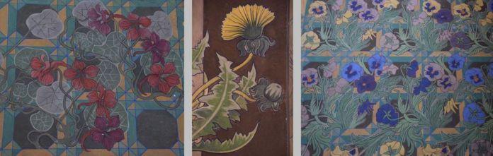 motifs peints sur les murs église des franciscains cracovie